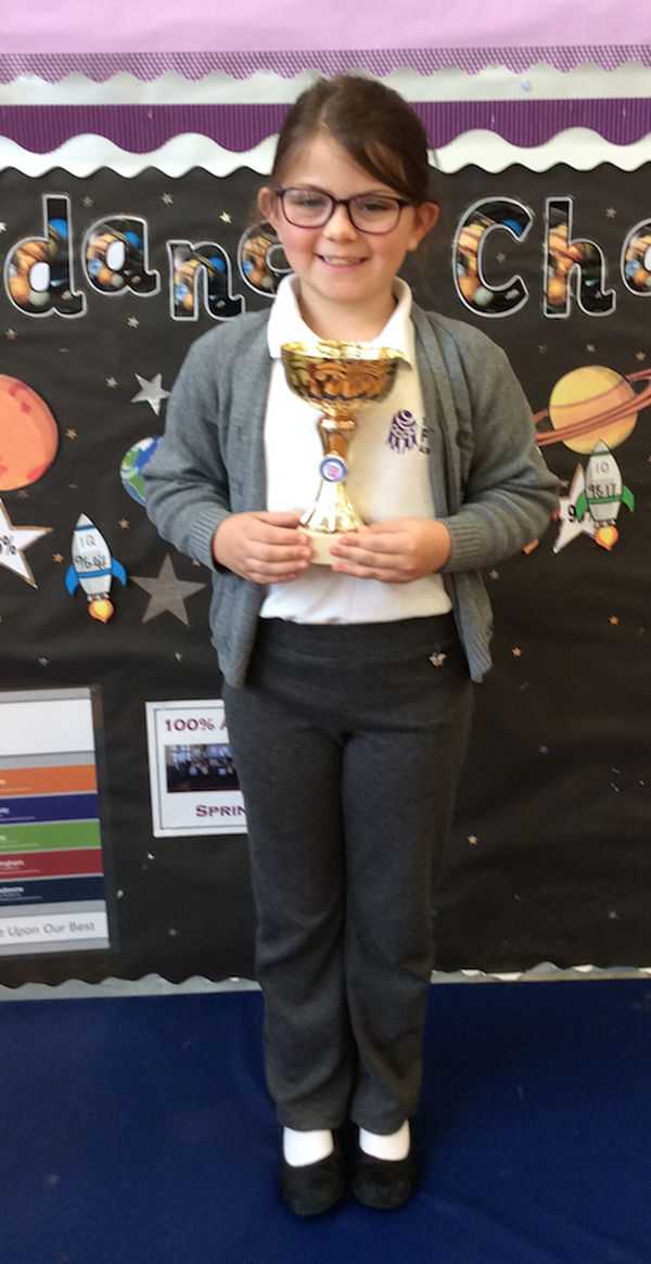 Emily Trophy for most promising junior in dance competition