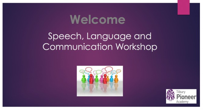Speech & Language Workshop Button
