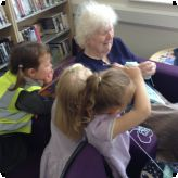 Afternoon Nursery pupils visit the library...