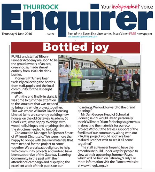 Enquirer 9 June 2016 TPA Eco Greenhouse & Summer Fayre