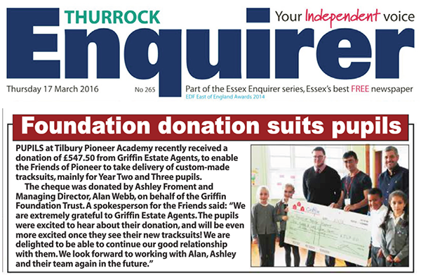 Enquirer 17 March 2016 TPA Griffin Foundation Trust