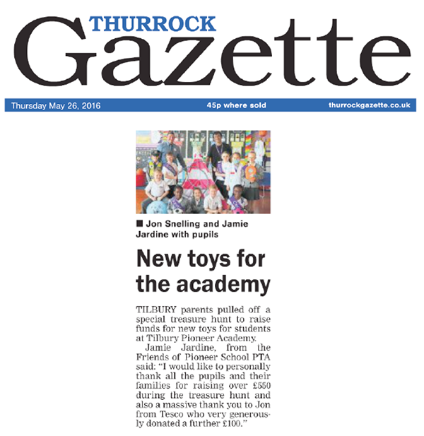 Thurrock Gazette 26 May 2016 Play Equipment