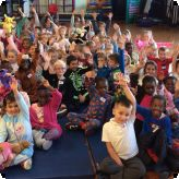 Pupils enjoy a 'hoot of a night' at their Bedtime Stories evening...