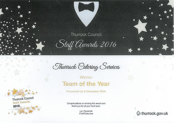 Thurrock Catering Services Award