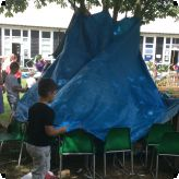 Den Building for Save the Children...
