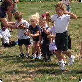 Nursery pupils enjoy their Sports Day...