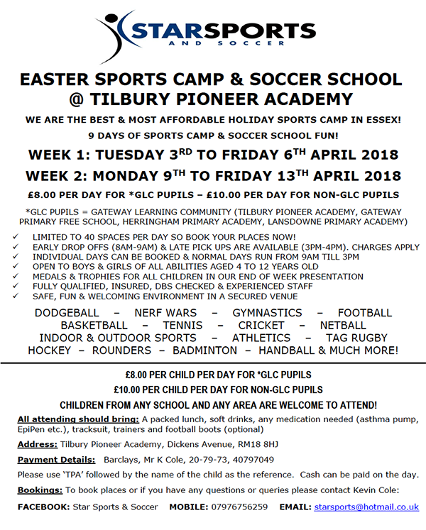 Star Sports Easter Clubs