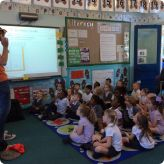 Storyteller visits Reception