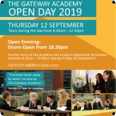 The Gateway Academy Open Day 12th September 2019